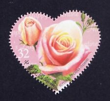 Taiwan 2012 MNH Odd Unusual Love Shape, Rose fragrance, Scented, Flowers