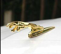 Jaguar F-Pace XEL XFL XJ Emblem 3D Gold Kühlerfigur Haube Ornament Motorhaube