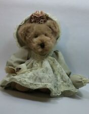 Avon Collectible Teddy Bear Victoria Hat Box Teddies tea cup pearls satchel