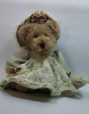 Avon Collectible Teddy Bear Victoria Hat Box Teddies tea cup pearls satchel