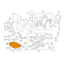 For Toyota Genuine Seat Cover Front Right 7107107142C2