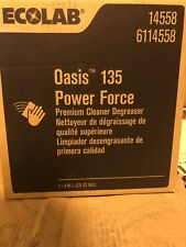 ECOLAB Oasis 135 Power Force Cleaner (2.5gl)   Cleaner Degreaser Brand New!