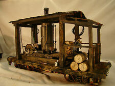 Logging Steam Donkey - custom weathered, handcrafted - lot 7 - G scale