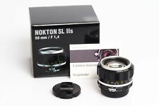 Voigtländer Nokton 1.4/58mm SLII-S AIS Silver Nikon F-Mount