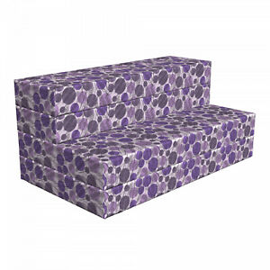 Ambesonne Flower Concept HR Foam Portable Mattress & Fabric Cover in 3 Sizes