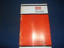 CASE 31 LOADER & BACKHOE OPERATOR OPERATION & MAINTENANCE BOOK MANUAL OEM