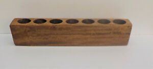 NEW WOOD SEVEN (7) HOLE WOODEN SUGAR MOLD CANDLE HOLDER