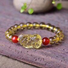 Natural Citrine Quartz Crystal Gragon Pi Xiu Beads Bracelet 10mm AAAA