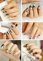 16 pieces Nail Art Gold and Silver Foil Wrap Decoration Armour Wraps StickersD