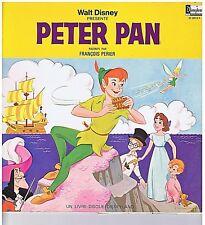LP+BOOKLET WALT DISNEY PETER PAN (FRANCOIS PERIER) SCENARIO & CHANSONS DU FILM