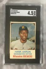 Aaron 130 Hank Hostess 1975 Hof Hand Cut Milwaukee Brewers Braves Sgc 4.5 Vg-Ex