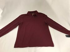 New Club Room Performance  Men's Size S Long Sleeve Polo Shirt