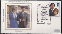 BS12) GB, Benham Silk Cover 1981, Set of 3, The Marriage of Prince Charles, Cant