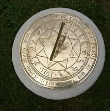 More details for compass point 195mm brass sundial