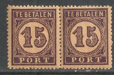 Netherlands Indies stamps 1874 NVPH Due 3 ColourPROOF Pair  MNH  VF