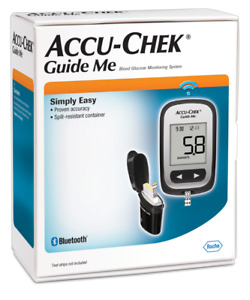Accu-Chek Guide Me Meter + FastClix Lancets Blood Glucose Monitoring System Pack