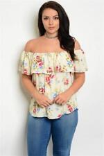 NEW..Stylish Plus Size Floral Print Off the Shoulder Bardot Top..SZ18/1XL