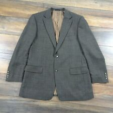 Daniel Grahame Mens 44L 100% Wool Brown Checked Single Breasted Jacket Tall