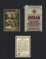 MICHAEL JORDAN 1995 Upper Deck 23 Kt Gold Card -  #d / 25000 in box w/ COA