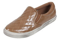 NEW LADIES WOMENS GIRLS FLAT SLIP ON PLIMSOLLS PUMPS TRAINERS SNEAKER SHOES SIZE