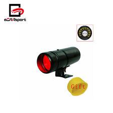 Black Tachometer RPM Adjustable Tacho Warning Car Gauge Shift Light Red LED