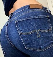 Lucky Lolita Skinny Womens Mid Rise Medium Blue Denim Jeans size 8 29 x 28