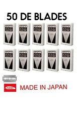 50 FEATHER Hi-Stainless Platinum Double Edge Safety Razor Blades 5 Packs of 10