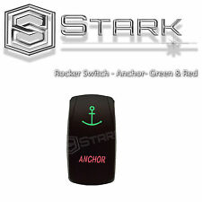 GREEN RED Laser Etched LED Rocker Switch Dual Light 20A 12V ON / OFF - ANCHOR