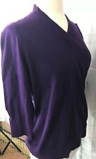 Talbots Woman Career Sweater Purple Pullover Lightweight NWT Size X