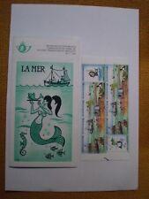 """Bloc de 10 timbres  Belgique , non oblitérés """" La Mer """""""