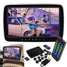 "Slim 10"" HD Digitl LCD Screen Car Headrest Monitor USB/SD MP5 Player IR/FM Game"
