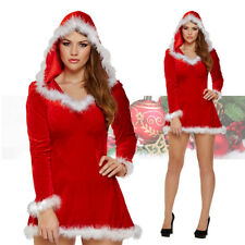 New Ladies Mrs Santa Claus Outfit Sexy Xmas Costume Adults Christmas Fancy Dress