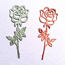 3Pcs Rose Flower Metal Cutting Dies Stencil For Making  Scrapbooking Paper Card