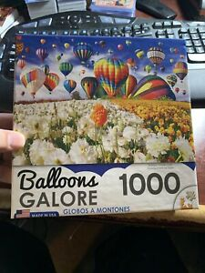 Balloon Flower Field 1000 Piece Puzzle Adult Owned 100% Complete CraZArt