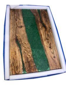 Custom Epoxy Walnut Wooden, Sofa, Center Dining Table Luxury Decor Made To Order