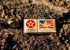 Texaco 1992 Olympic Team Sponsor U.S. Gymnastics Federation Lapel Pin Pinback