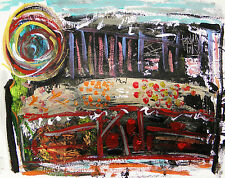ABSTRACT Original  Painting JMW John and Mary Carol TOGETHER art EXPRESSIONISM