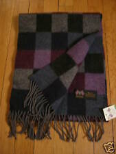 """NWT: MOON Unisex 100% Lambswool Checkered Scarf, 62"""""""
