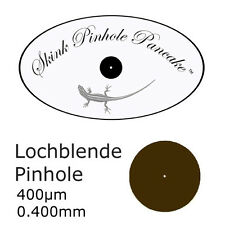 Skink laser drilled pinhole aperture 0.4mm very thin stainless steel substrate