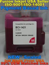 Cartridge fits BCI-1421 Canon W8200PG W8400 Magenta m pigment ink not oem inkjet