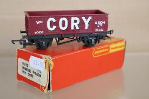 HORNBY R022 CORY & SON STEEL SIDED MINERAL WAGON 8008 LIGHT MAROON BOXED nw