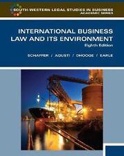 International Business Law & Its Environment 8th Ed hc Richard Schaffer FAgusti
