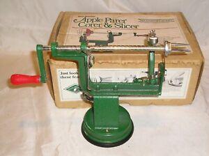 Vintage White Mountain Cast Iron Apple Parer Corer & Slicer #700 & Original Box