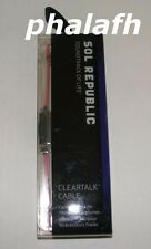 NEW Pink Sol Republic Cleartalk Cable with Mic for Tracks Headphones 1307-38