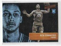 2016-17 Ben Simmons Panini Aficionado 76ers Rookie