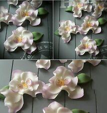 Zuckerblumen.Fondant Blumen. Ohne Draht Tortendeko Orchideen zart lila, Hochzeit