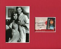Madeline Smith James Bond Sexy Signed Autograph Photo Display With Roger Moore