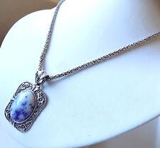 Lady Elelgant Magic Mirror Sodalite Embossed Fashion Necklace Bracelet Earrings