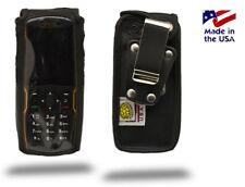 Turtleback Sonim XP3300 Force Black Leather Fitted Phone Case Metal Belt Clip
