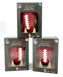 NEW ORLEANS SAINTS FOOTBALL STRESS BALL DISPLAY TEE STAND RELIEF FOAM NFL